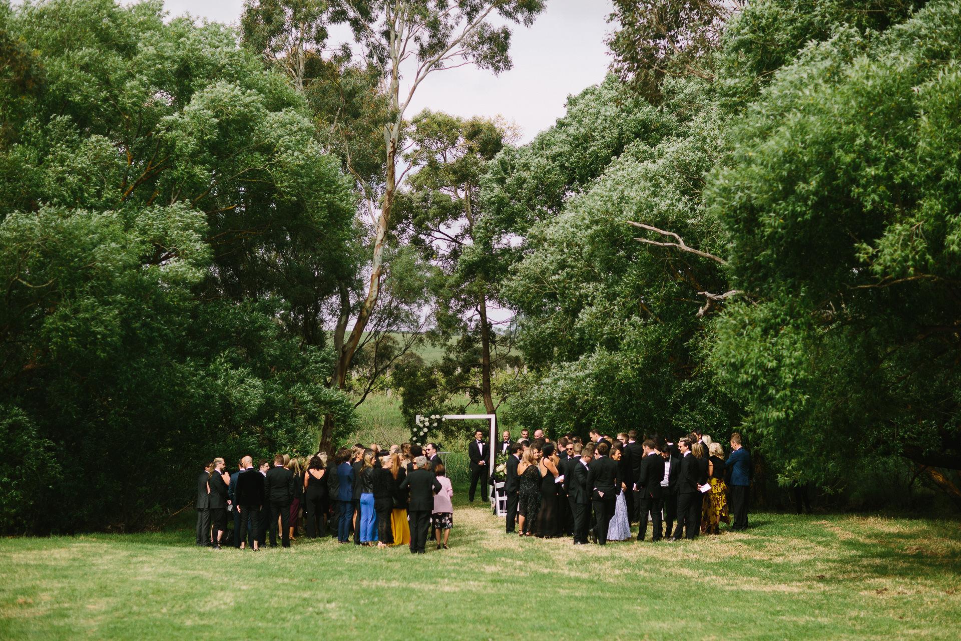 Bolt hoban estate wedding ceremony