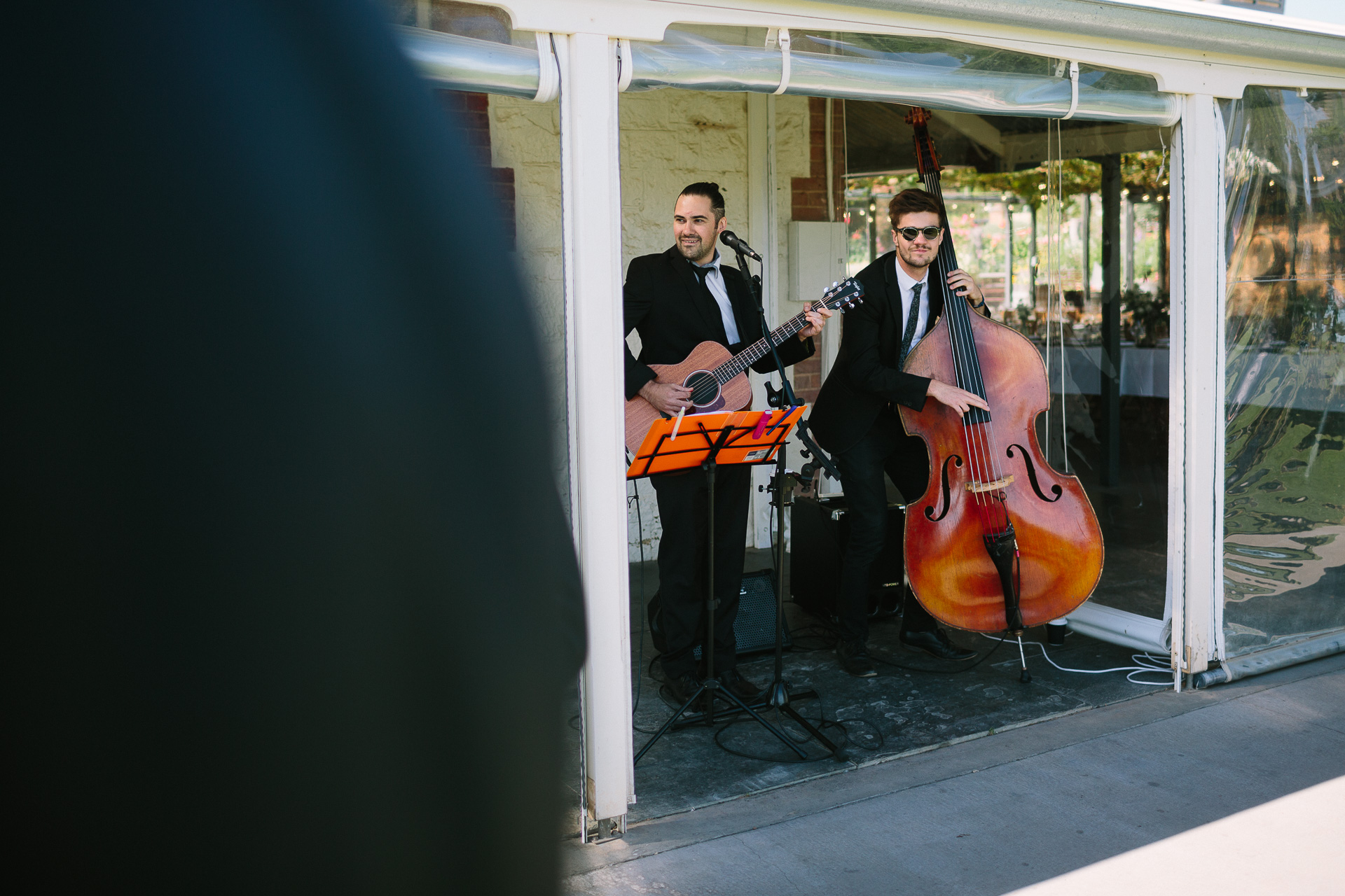 the baker boys , band at wedding Coriole winery wedding mclarenvale